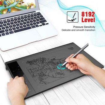 Graphic Drawing Tablet 8192 Level 10x6inch Active Area Digital Tablet Passive Pen In 5080 LPI resolution For Windows, For Mac OS