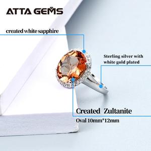 Image 3 - خاتم فضة إسترليني من Zultanite للنساء بتصميم حجر متغير اللون مجوهرات رائعة لحفلات الزفاف