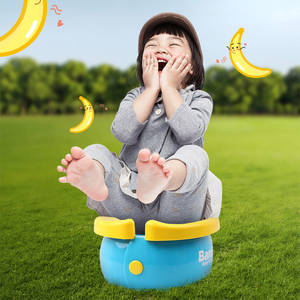 Children's toilet Cartoon Banana Folding Portable Outdoor No-cleaning Children Car-mounted Toilet Urine