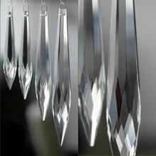 10 шт. 63 мм прозрачная многогранная хрустальная люстра Призма кулон части стеклянного освещения кулон для продажи