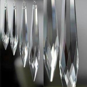 50mm/63mm/76mm/100mm claro multifacetado prisma lustre de cristal pingente peças iluminação de vidro pingente para venda