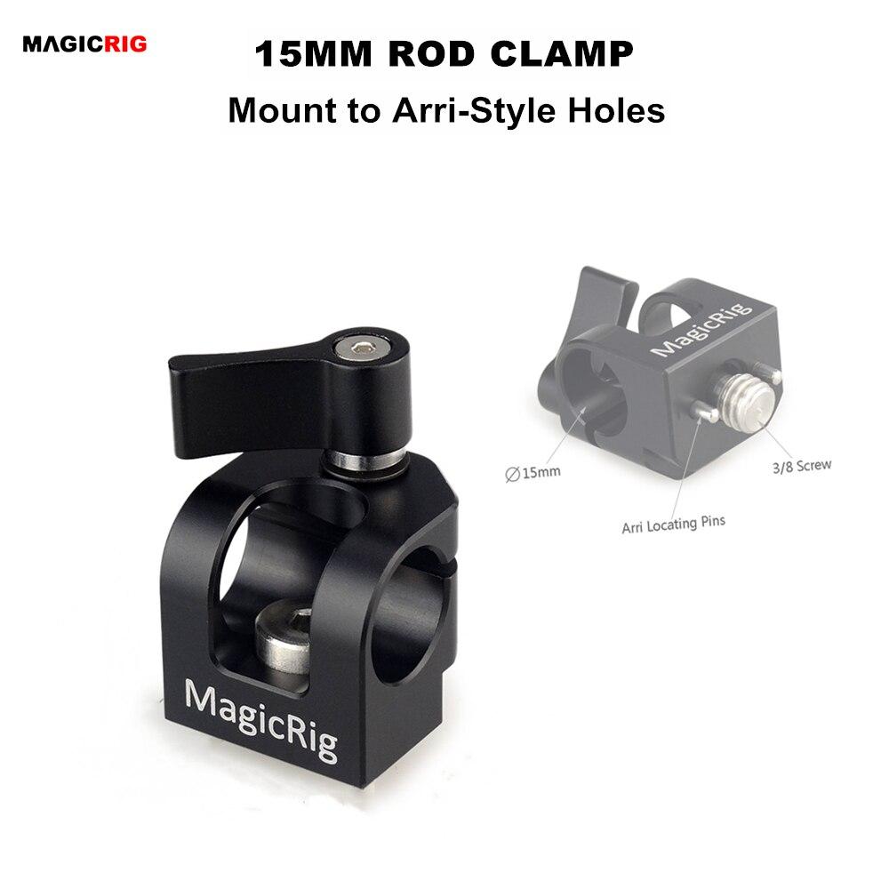 MAGICRIG с одним отверстием 15 мм стержневой зажим с аксессуаром ARRI крепление для камеры ручка/камеры клетка/Сырная пластина