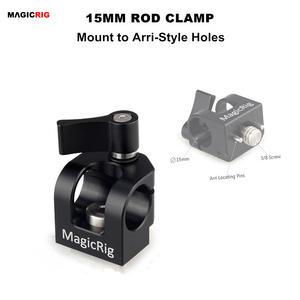 Image 1 - MAGICRIG Single Hole 15mm Rod Clamp with ARRI Accessory Mount for Camera Handle / Camera Cage / Cheese Plate