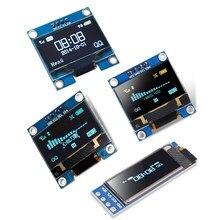 Tela lcd oled iic em branco, amarelo e azul de 0.91 polegadas, módulo i2c ssd1306 placa para arduino