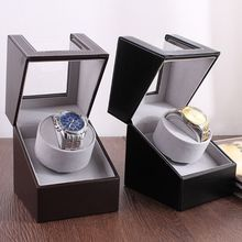 Leather Automatic Winding Box Shaker Single Watch Winder Holder Display Storage Automatic Mechanical Watch Storage Box