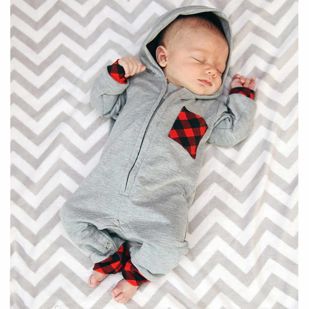 2020 New Spring Toddler Boys Clothes Casual Romper Gentleman Style V-neck Long Sleeved Jumpsuit Newborn Baby Clothing Set