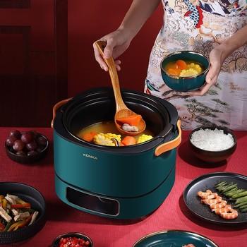 Konka wielofunkcyjny garnek do gotowania MIX3 domowy inteligentny Split ceramiczny wielofunkcyjny garnek do gotowania kuchenka elektryczna wolnowar tanie i dobre opinie OLOEY CN (pochodzenie) Zupa gulasz Pojedyncze dno 2200W 220 v
