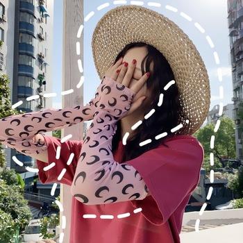 Netto Celebrity piękna dziewczyna śliczny krem do opalania artefakt rękawica rękaw rękaw lód opaska konna rękaw lodowy jedwab rękaw cienki tanie i dobre opinie WOMEN Dla dorosłych Rayon Drukuj CF10059 summer