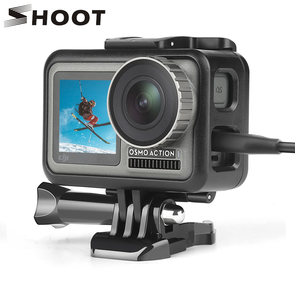 SHOOT Side Open Protective Frame Case For DJI Osmo Action Camera Cage Shell Housing Frame For DJI Osmo Action Camera Accessories