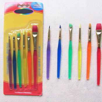 Materiały malarskie pędzle do kolorowania wodą sztuczne włókna artystyczne materiały artystyczne 6 kolorowe końcówki pędzle malarskie pędzelki do paznokci tanie i dobre opinie CN (pochodzenie) NYLON Z tworzywa sztucznego