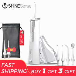 ShineSense SIO200 Water Flosser Oral Irrigator Dental Water Jet USB Rechargeable 250ml Tank for Teeth Whitening Cleaning