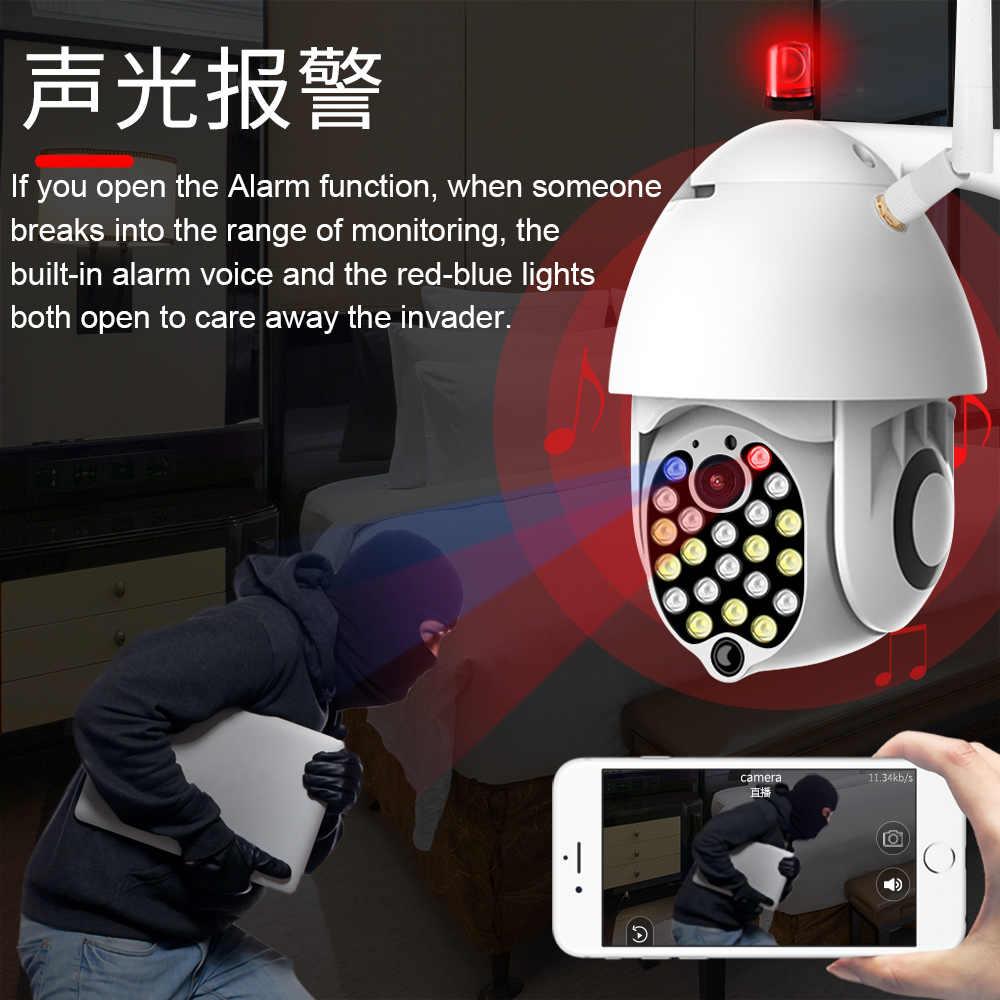 Jiange Wifi Camera Outdoor Zoom Waterdichte Intelligente 21 Leds 1080P Draadloze Ptz Ycc365 Plus Voor Home Security