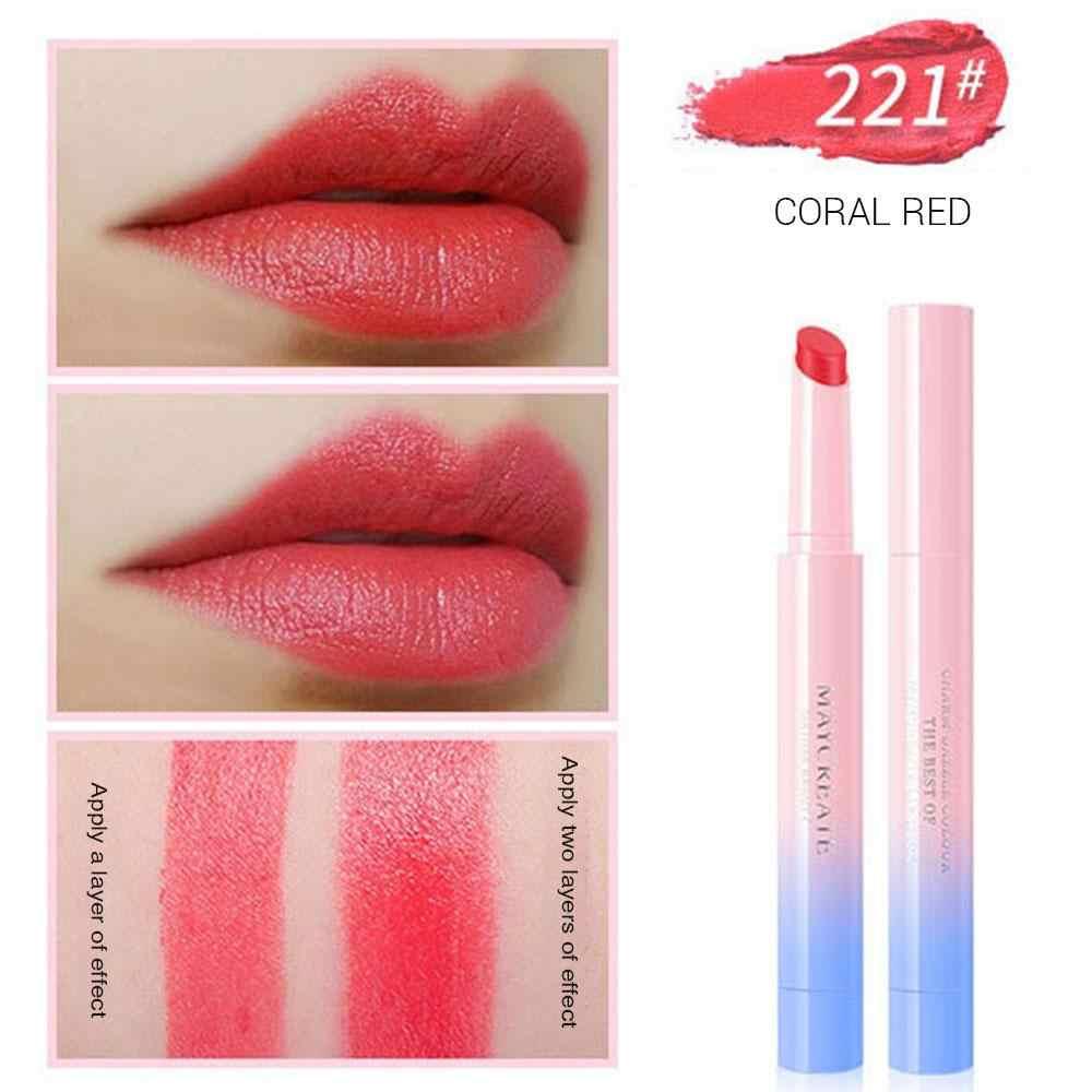 Música Rosa 3 piezas pintalabios de larga duración delineador de labios impermeable lápiz de 10 colores de moda coreana mate lápiz labial