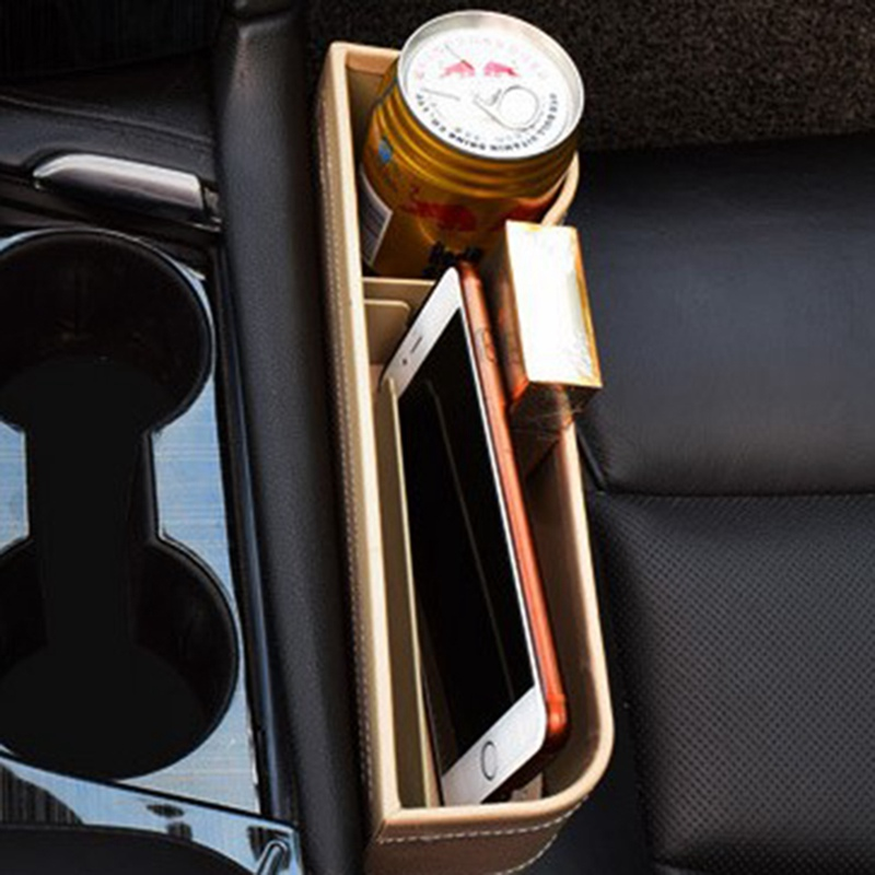 Storage-Box Pocket-Organizer Seat-Gap Drink-Holder Universal-Passenger-Driver Side-Car