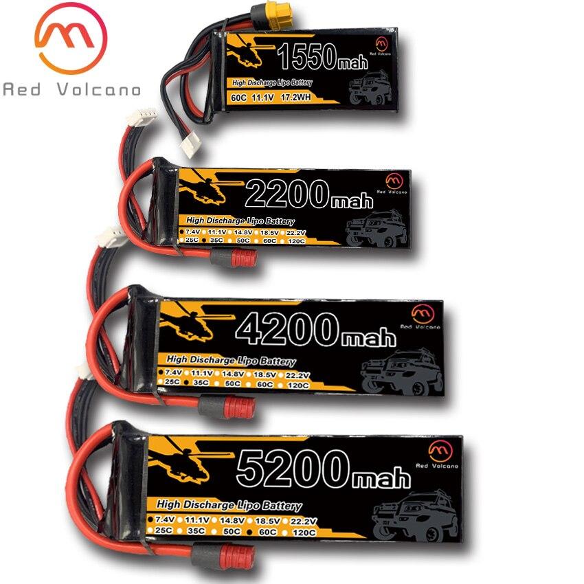 Перезаряжаемые литий-полимерные аккумуляторы RC 2s 1550 мАч 2200 мАч 3300 мАч 4200 мАч 5200 мАч 35C 60C с разъемом XT60 T