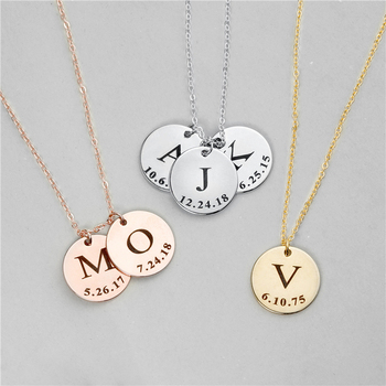 Stainless Steel Initial 26 Letter Pendant Necklace Engraved ID Monogram Charm Necklace Personality Memorial Day Lady Coin брюки lady charm