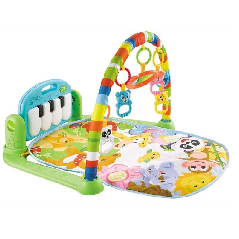 아기 음악 랙 놀이 매트 아이 깔개 퍼즐 카펫 피아노 유아 Playmat 조기 교육 체육관 크롤링 게임 패드 장난감 0-6-8-12 개월