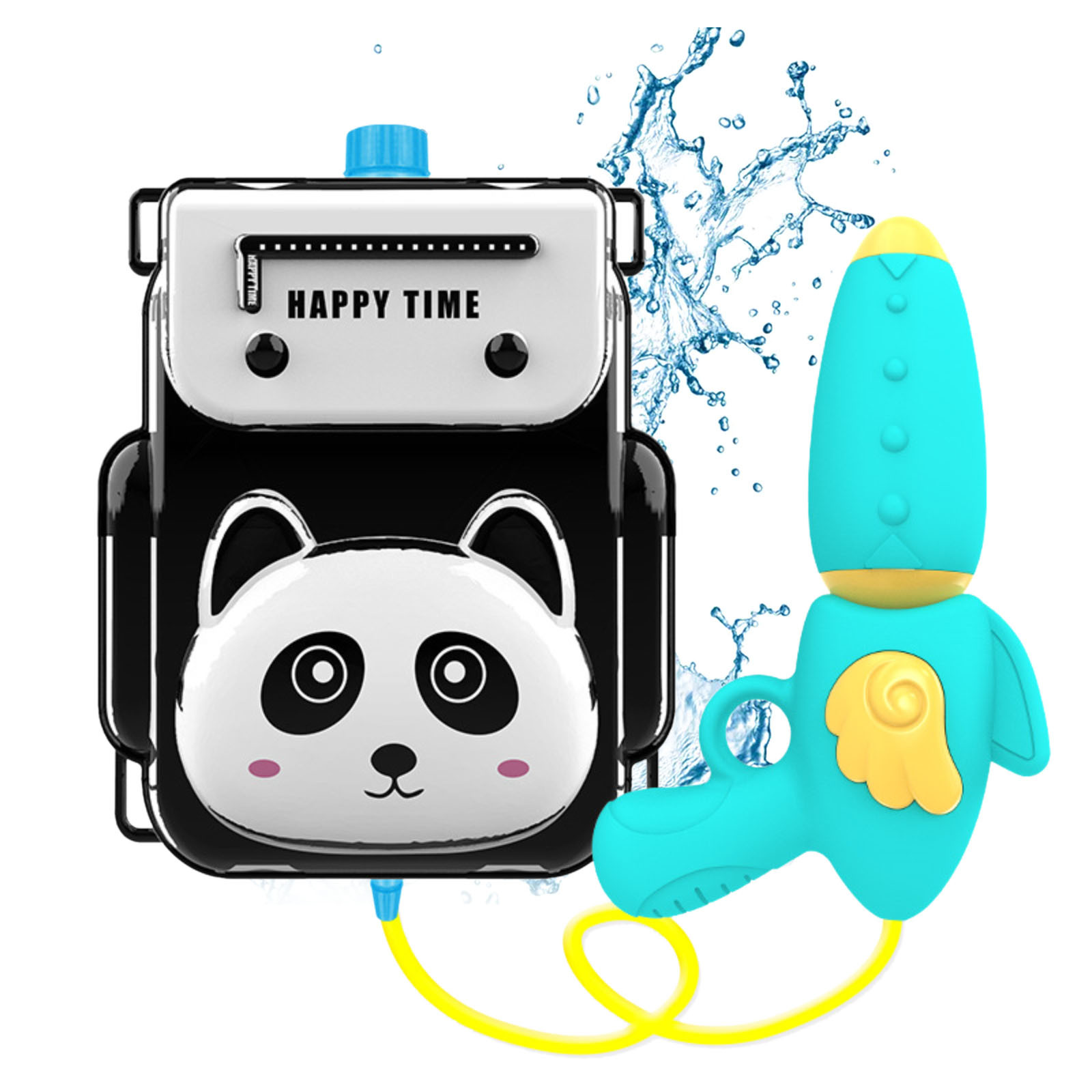 Children's Backpack Water Bomb Toy Pull-out Beach Play Water Spray Bomb Funny Magic  Electric Automatic Machine Outdoor Toys