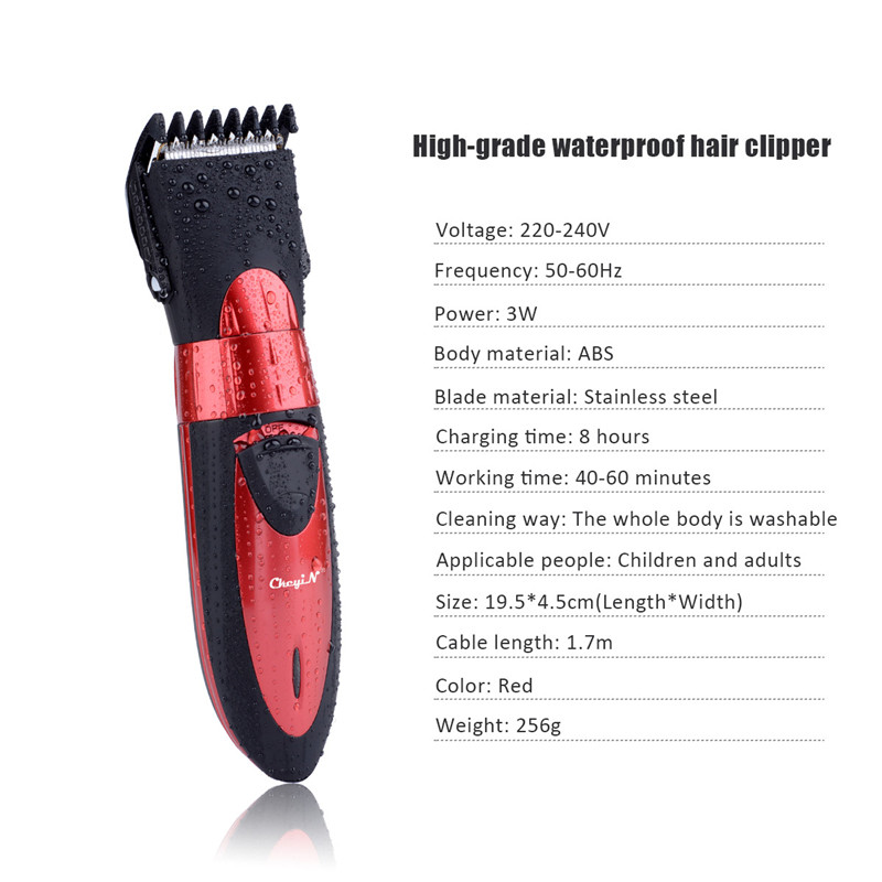 Hot sales Kairui Waterproof electric hair clipper razor child baby men electric shaver hair trimmer cutting machine haircut P49 4