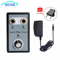 Car Styling Spark Plug Tester Adjustable Double Hole 12V Gasoline Vehicles Car Spark Plugs Diagnostic Tool Power Adapter