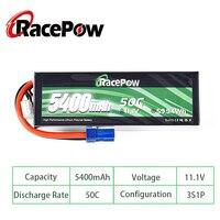 RacePow-batería Lipo de 5400mAh, 11,1 V, 50C, 3S, resistente, con enchufe EC5, para Evader, barco, coche, Truggy, monstruo, tanque