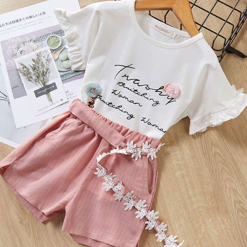 Hc43a8fd0a97b4481afe4bb31341897c3e Melario Kids Girls Clothing Sets Summer Baby Girls Clothes T-Shirt and Jeans Shorts Suit 2Pcs Children Clothes Suits