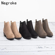 2019 New Women Martin Boots Autumn Winter Boots Classic Zipper Snow Ankle Boots Winter Suede Warm Fur Plush Women Shoes fedonas new warm autumn winter snow shoes woman high heels zipper short martin boots retro punk motorcycle boots 2019 new shoes