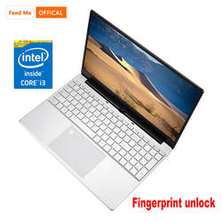 Feed me 4 Гб ОЗУ 64 Гб EMMC 15,6 дюймов Intel четырехъядерный CPU Windows 10 система 1920*1080 P ips экран нетбук ноутбук компьютер