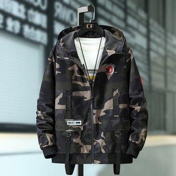 FA19 de primavera y otoño de Corea moda chaqueta de los hombres es gordo guapo casual ropa deportiva
