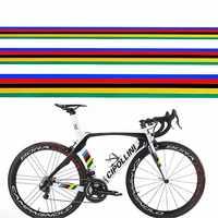 1Pc Bicycle Sticker Reflective Rainbow Decoration Sticker DIY MTB Bike Modified Sticker Cycling Frame Sticker