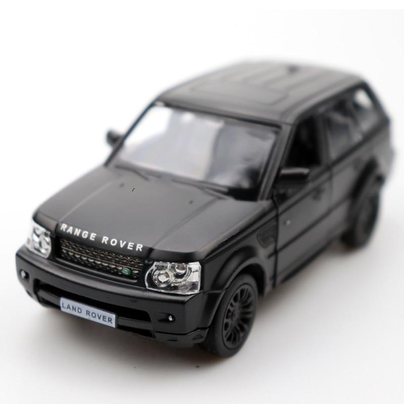 1:32 Diecast Car Doors-open Range Rover Car Black High Simulation Alloy Diecast Car Model Pull Back For Children's Gifts