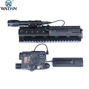 """Image 1 - WADSN Airsoft 4.125 """"ITI TD Narbe Tasche Panel Remote Schalter Pad Schwanz Schützen Slot Passt 20mm schienen PEQ15 scout Licht Zubehör"""