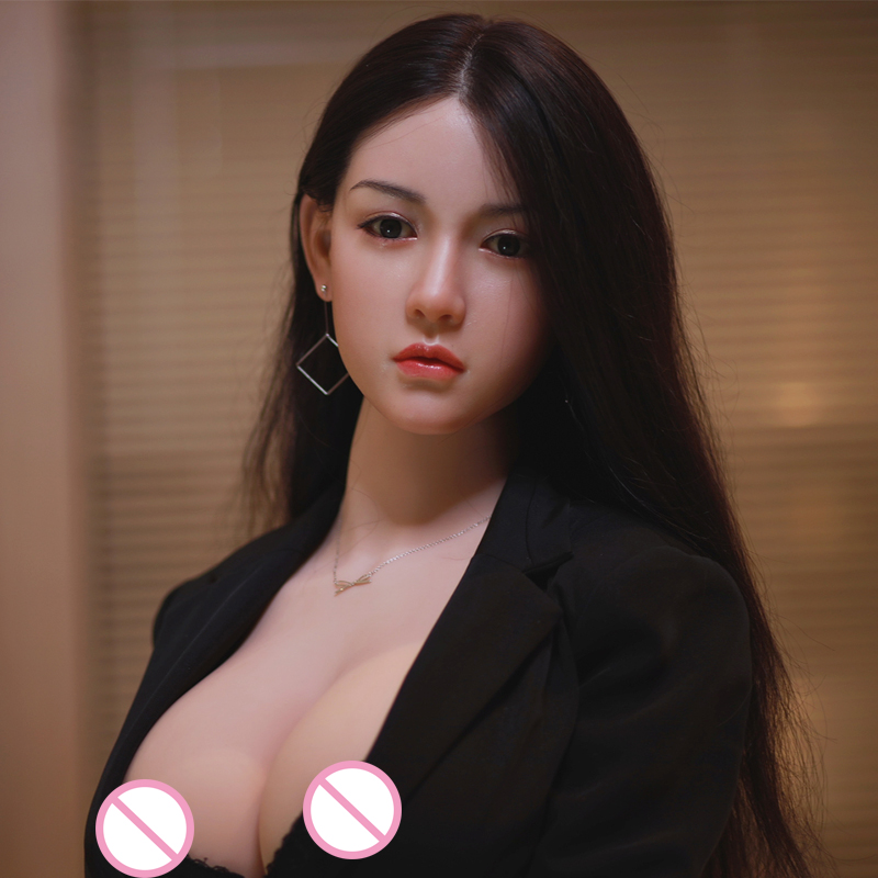 JYDOLL 170cm Implant Hair Solid Silicone Head + TPE Body Life Size Japanese Real Sex Doll Realistic Vagina
