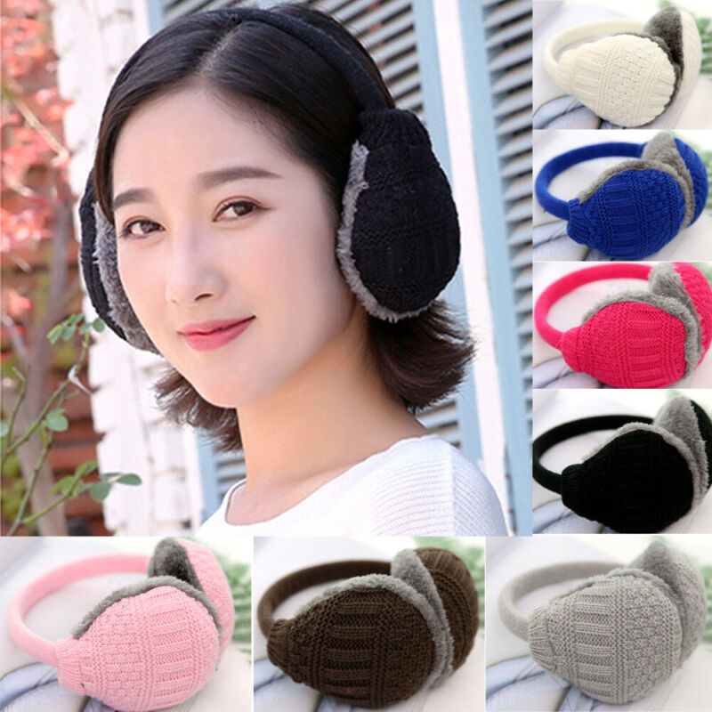 New Men Women Winter Warm Earmuffs Unisex Ear Muffs Winter Ear Warmers Fleece Ear Warmer Men's Womens Behind The Head Band