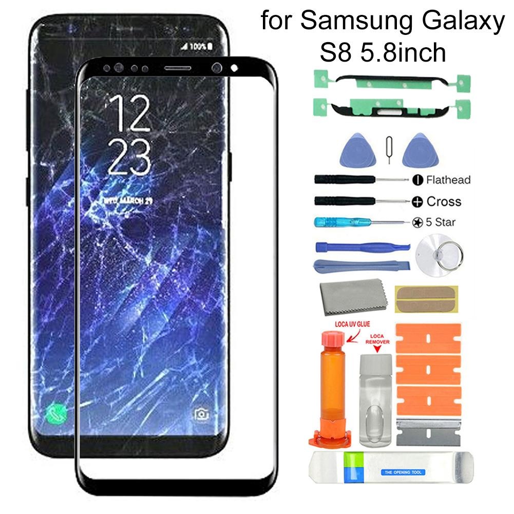 <font><b>Replacement</b></font> Front <font><b>Glass</b></font> Screen Repair Kit with Tool for <font><b>Samsung</b></font> <font><b>Galaxy</b></font> <font><b>S8</b></font> SM-G950F G950 <font><b>Glass</b></font> Touch Screen Repair Kit with Glue image