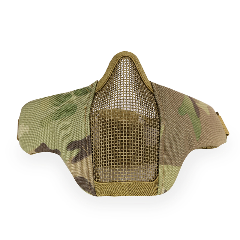 Outdoor Steel Wire Mask Mesh Tactical Airsoft Paintball Half Face Protective Mask Breathable Military Hunting CS War Games Masks