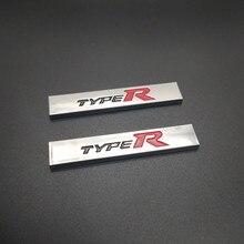 Car Styling 3D Metal Alloy Type R Typer Sticker For Honda City CR-V XR-V HR-V Accord FIT Jazz Stream Crider Greiz CIVIC Spirior стоимость