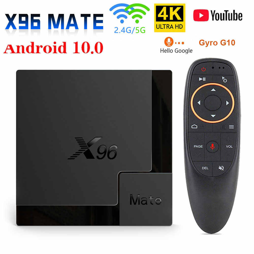 2020 X96 Mateสมาร์ททีวีกล่องAndroid 10 Allwinner H616 4GB 64GB 32GB 2.4G & 5G Wifi 4K HD Google Media Player Android TV Box
