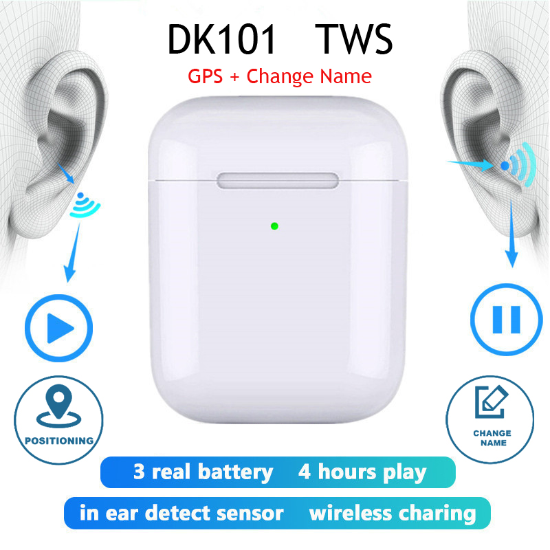 Original DK101 Pro TWS Aire 2 Copy 1:1 Bluetooth Earphone Wireless Headphones Rename Positioning Earbuds PK I9000 Pro I500 TWS