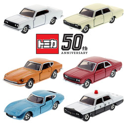 Takara tomica 50th anniv coroa super deluxe fairlady z toyota 2000gt corona mark ii hardtop japão polícia carro de patrulha brinquedo