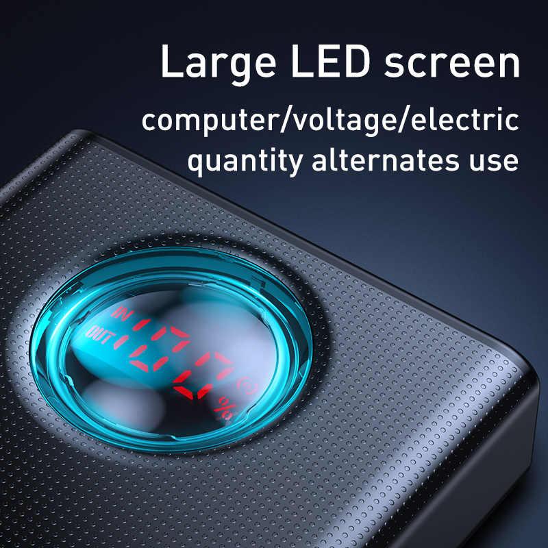 Baseus 65W Power Bank 30000 Mah Usb C Pd Quick Charge 30000 Powerbank Draagbare Externe Batterij Oplader Voor Iphone xiaomi Laptop