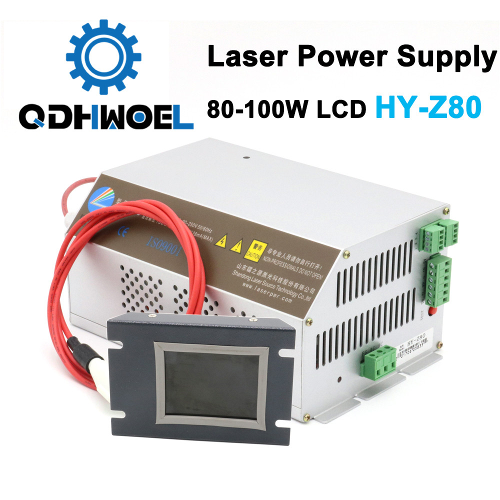 Intelligent Z80 Co2 Laser Power Supply 80W For Laser Engraving And C Machine