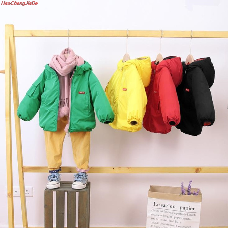 Boys 90% White Duck <font><b>Feather</b></font> Cotton-Padded Clothes <font><b>kid</b></font> Sport <font><b>jackets</b></font> Children's Outerwear Boys Winter Warm Hooded Coat image