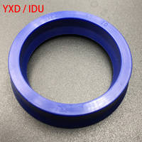 50Pieces 50x58x10 and 50Pieces 90x78x14 YXD IDU Blue Hydraulic Cylinder TPU Piston Rod Grooved U Lip O Ring Gasket Oil Seal