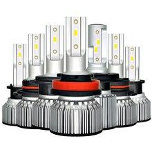 Bombilla de faro delantero de coche H4 LED H1 H3 9005 9006 HB4 H13 9004, 9007, 880, 881 H27 Led Auto lámpara de luz 12V Lampada H7 24V H11 12000LM 6000K