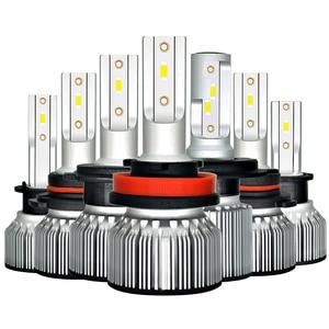 Image 1 - Bombilla de faro delantero de coche H4 LED H1 H3 9005 9006 HB4 H13 9004, 9007, 880, 881 H27 Led Auto lámpara de luz 12V Lampada H7 24V H11 12000LM 6000K