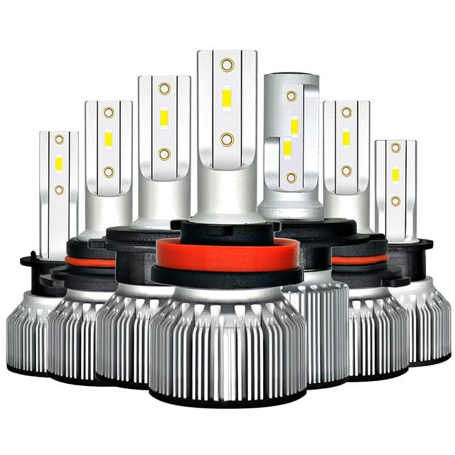 سيارة مصباح أضاءه أمامي H4 LED H1 H3 9005 9006 HB4 H13 9004 9007 880 881 H27 Led مصباح تلقائي ضوء 12V Lampada H7 24V H11 12000LM 6000K