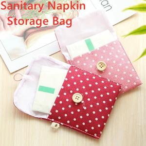 Kawaii Sanitary Napkin Bag Credit Card Clip Cosmetic Storage Organizador Coin Purse Sanitary Pad Pouch Caja Mascarillas Guardar