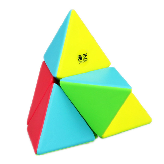 QIYI 2x2 Pyramid Cube Stickerless Magic Cubes Professional 2x2x2 Puzzle Speed Cube Educational Toys For Children 2