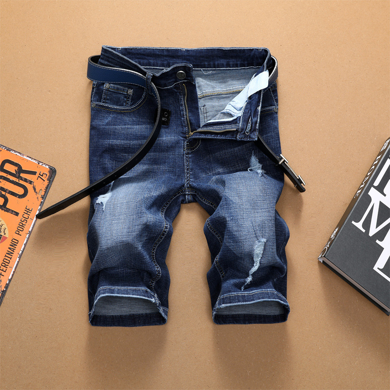 Jeans Men's Korean-style Trend Short Shorts Breeches Pants Men Skinny Pants Elasticity Cowboy Tsd7270